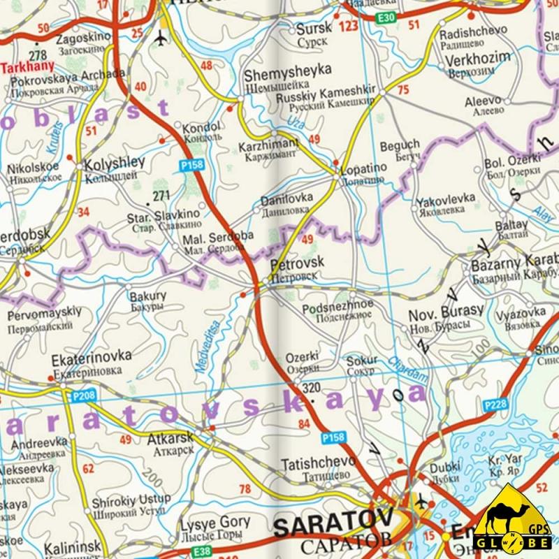 Gps globe carte touristique de l 39 ouest de la russie for Carte touristique