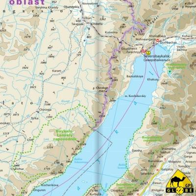 Lac Baikal à Vladivostok (Russie) - Carte touristique - 1 : 2 000 000