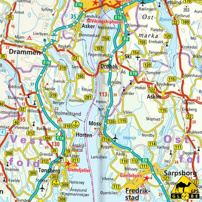 Finlande (+ nord scandinavie) - Carte voyage - 1 : 875 000 - GPS-GLOBE