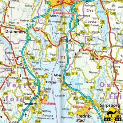 Finlande (+ nord scandinavie) - Carte touristique - 1 : 875 000