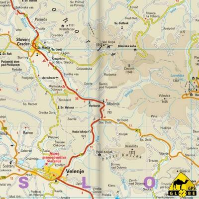 Slovénie - Carte touristique - 1 : 185 000