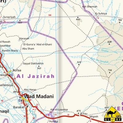 Soudan - Carte voyage - 1 : 1 800 000