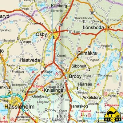 Suède (Sud) - Carte touristique - 1 : 500 000