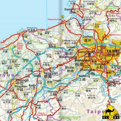 Taiwan - Carte touristique - 1 : 300 000