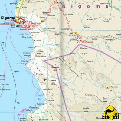 Tanzanie / Rwanda / Burundi - Carte touristique - 1 : 1 200 000