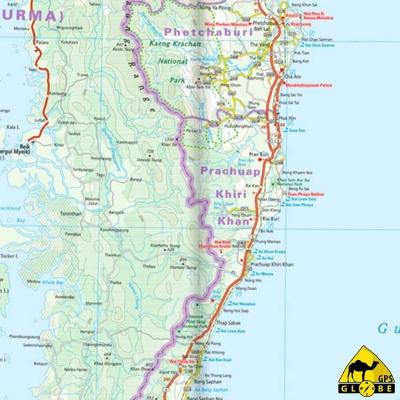 Thailand - Carte touristique - 1 : 1 200 000