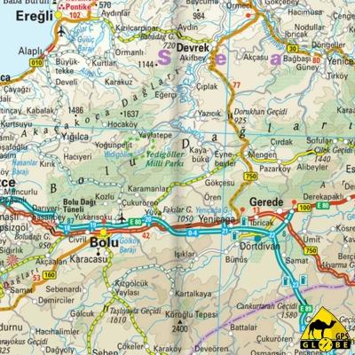 Turquie - Carte voyage - 1 : 1 100 000