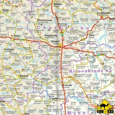 Ukraine - Carte voyage - 1 : 1 000 000
