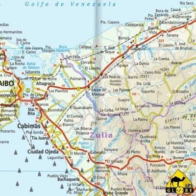 Venezuela - Carte voyage - 1 : 1 400 000
