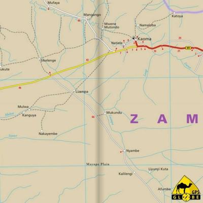 Zambie - Carte voyage - 1 : 1 000 000