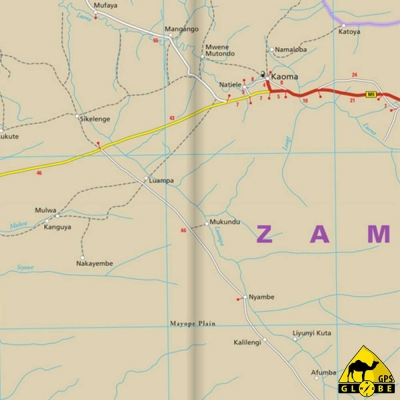 Zambie - Carte touristique - 1 : 1 000 000