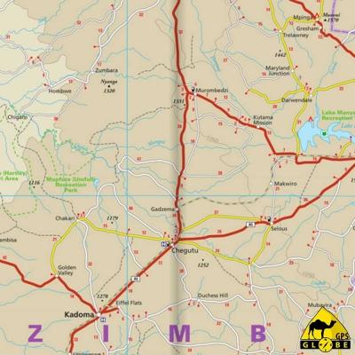 Zimbabwe - Carte touristique - 1 : 800 000