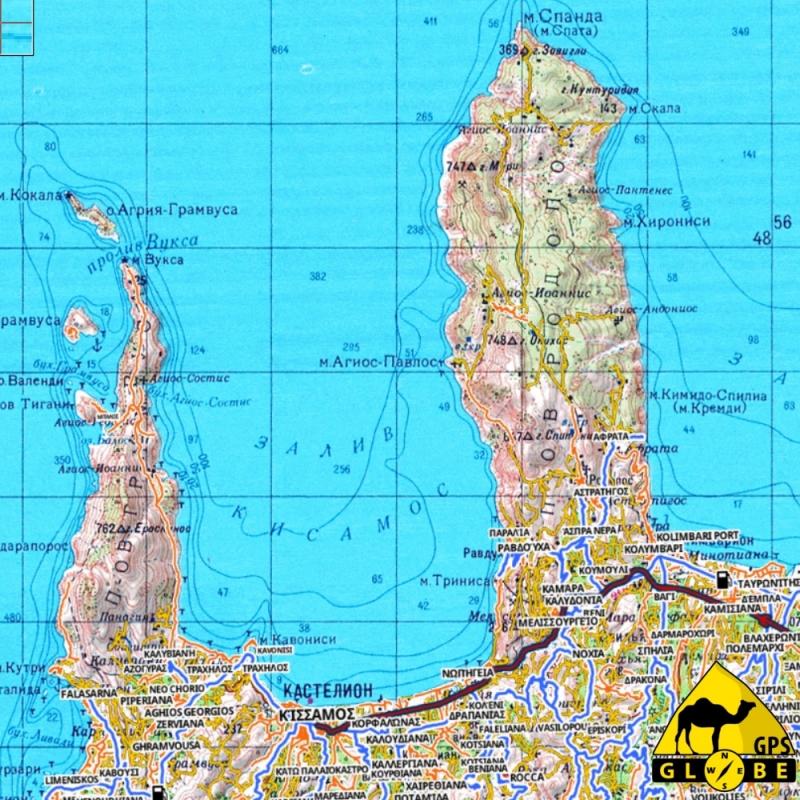 Carte Topographique Crete.Carte Tout Terrain De La Crete Au 1 25 000