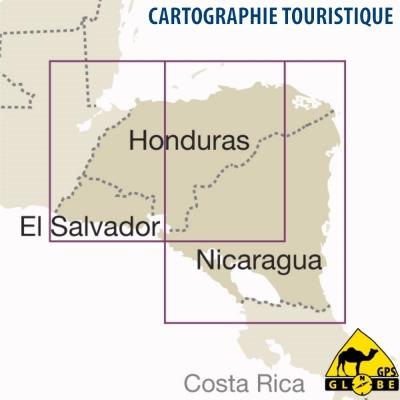 Nicaragua / Honduras / El Salvador - Carte voyage - 1 : 650 000