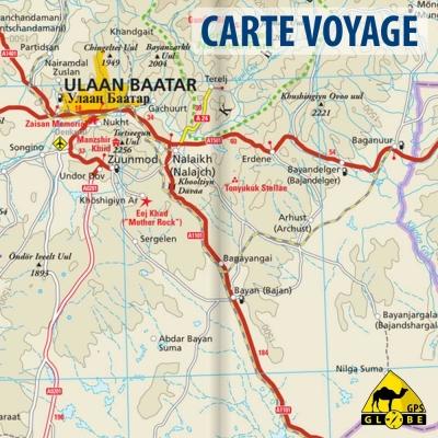 Mongolie - Carte voyage - 1 : 1 600 000