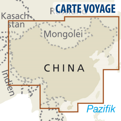 Chine / Mongolie / Nepal / Corée / Bhoutan - Carte touristique - 1 : 4 000 000