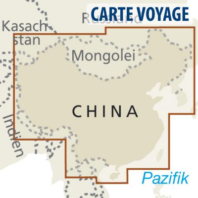 Chine / Mongolie / Nepal / Corée / Bhoutan - Carte voyage - 1 : 4 000 000