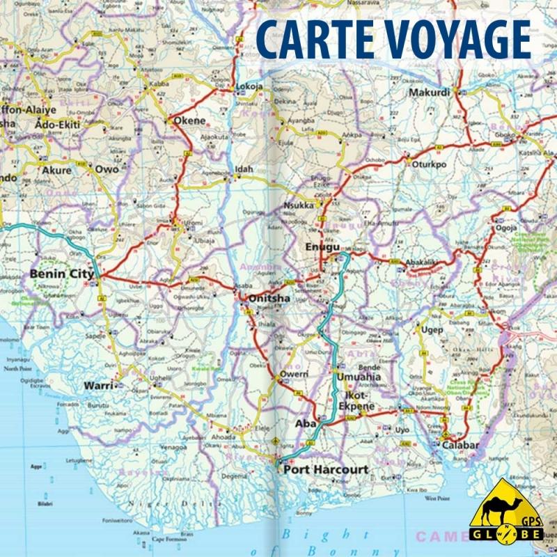Carte Afrique Du Sud Ouest.Gps Globe Carte Touristique De L Afrique De L Ouest Cotiers