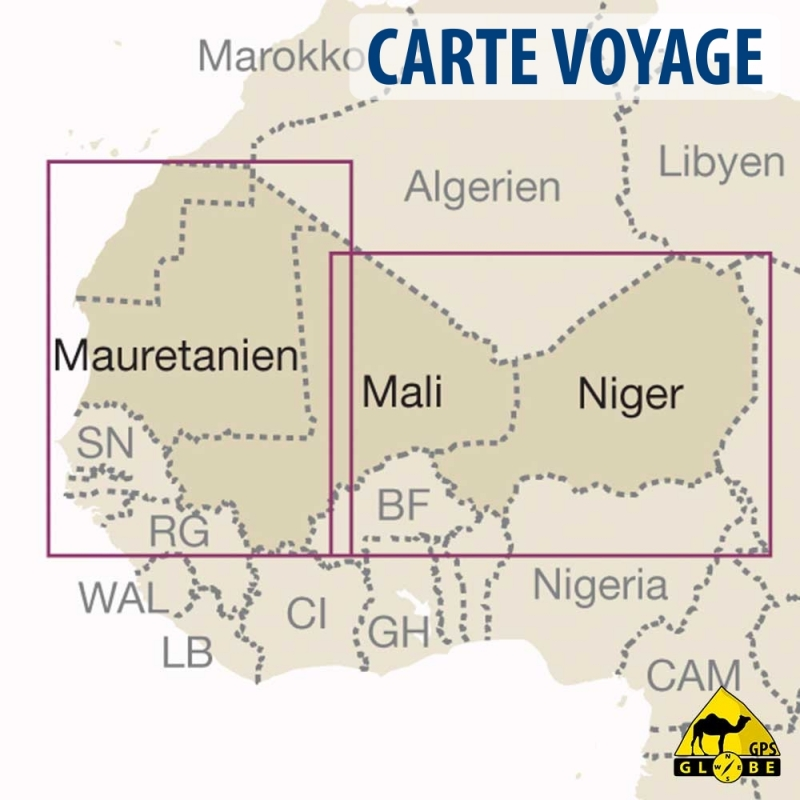 gps globe carte touristique de l 39 afrique ouest au 1 2 500 000. Black Bedroom Furniture Sets. Home Design Ideas
