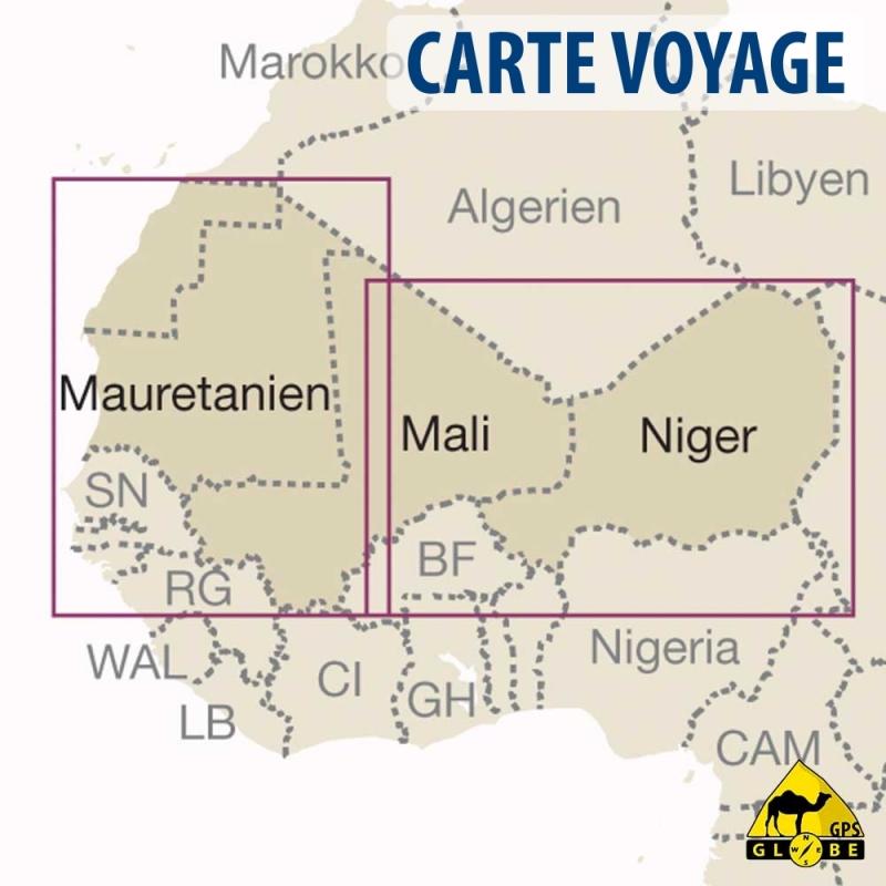 gps globe carte touristique de l 39 afrique ouest au 1 2 500 000. Black Bedroom Furniture Sets. Home Design Ideas