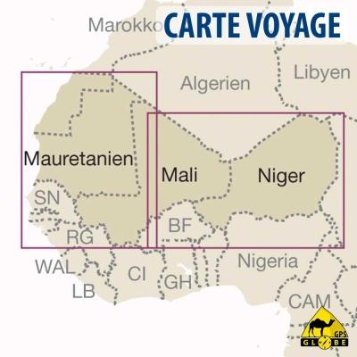 Afrique de l'Ouest - Carte voyage - 1 : 2 200 000