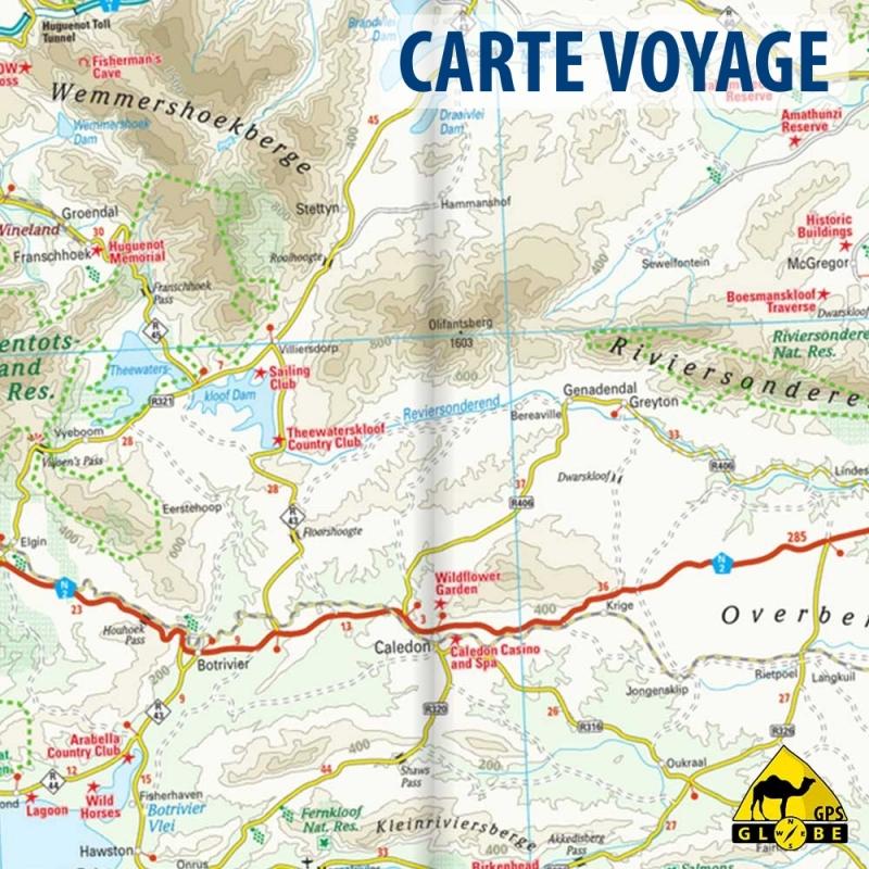 Super Afrique du Sud (région du Cap) - Carte voyage - 1 : 500 000 - GPS  WB17