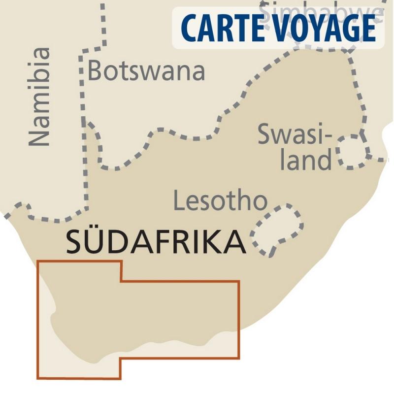Afrique du Sud (région du Cap) - Carte touristique - 1 : 500 000