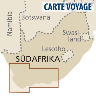 Afrique du Sud (région du Cap) - Carte voyage - 1 : 500 000