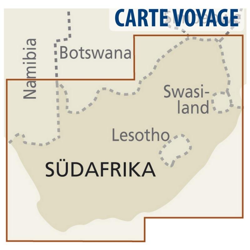 Afrique du Sud - Carte touristique - 1 : 1 400 000