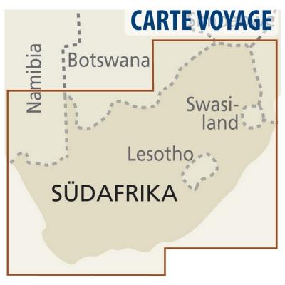 Afrique du Sud - Carte voyage - 1 : 1 400 000