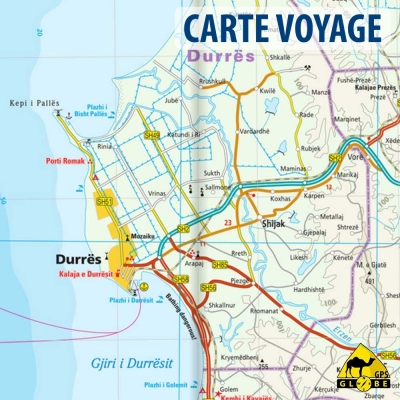 Albanie - Carte voyage - 1 : 220 000