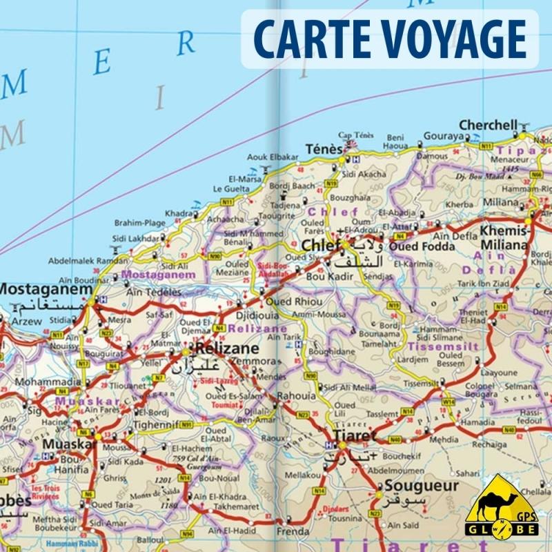 Carte Algerie Et Tunisie.Algerie Tunisie Carte Voyage 1 1 700 000
