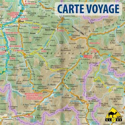 Région des Alpes - Carte voyage - 1 : 550 000