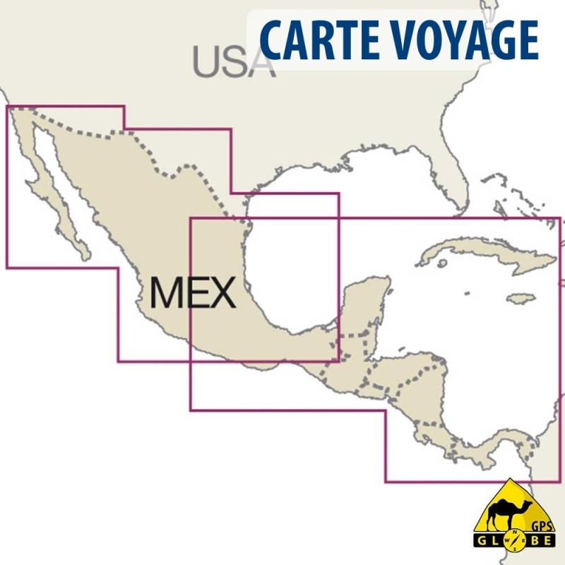 Carte Gps Amerique Du Nord.Gps Globe Carte Touristique De L Amerique Centrale Et Mexique