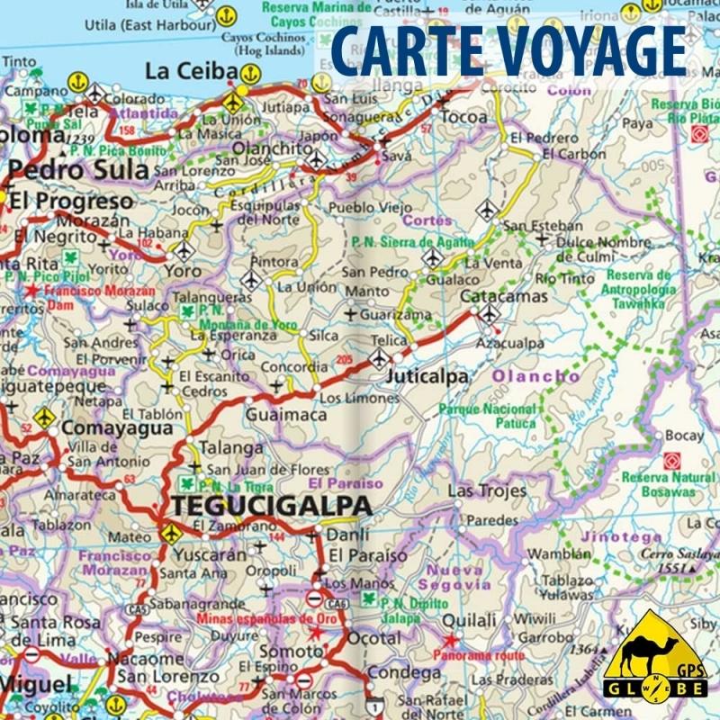 Carte Mexique Touristique.Amerique Centrale Mexique Carte Voyage 1 3 000 000