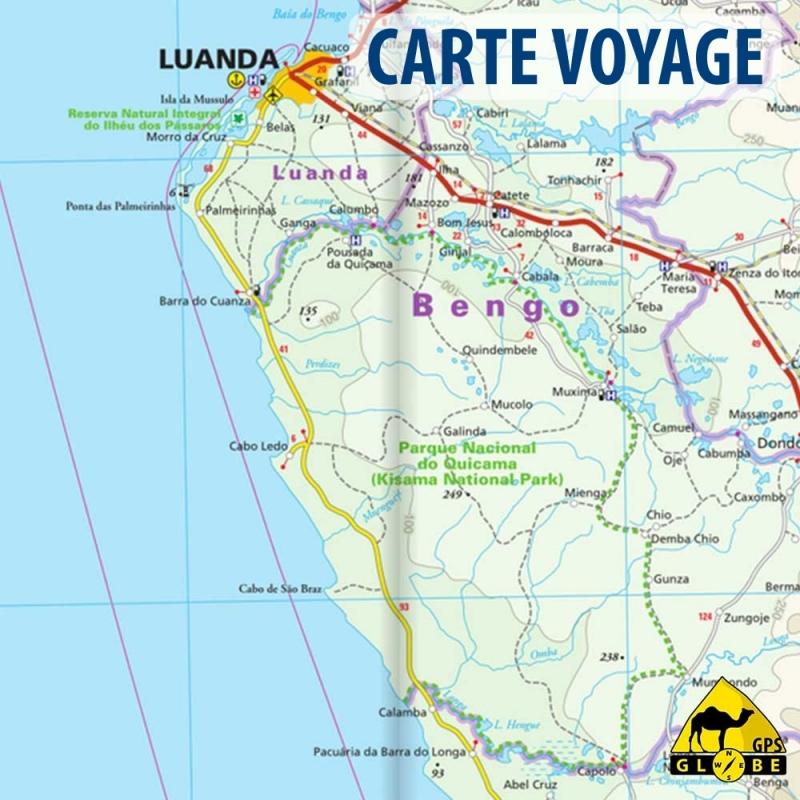 Angola - Carte touristique - 1 : 1 400 000