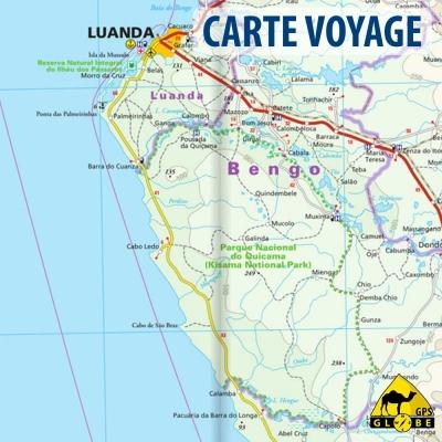 Angola - Carte voyage - 1 : 1 400 000