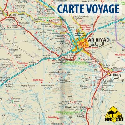 Arabie Saoudite - Carte voyage - 1 : 1 800 000