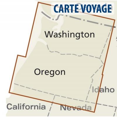 Etats-Unis (Nord Ouest) - Carte voyage - 1 : 750 000