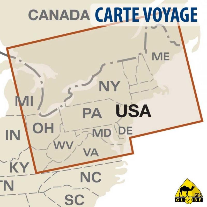 Gps Globe Carte Touristique Du Nord Ouest Des Etats Unis