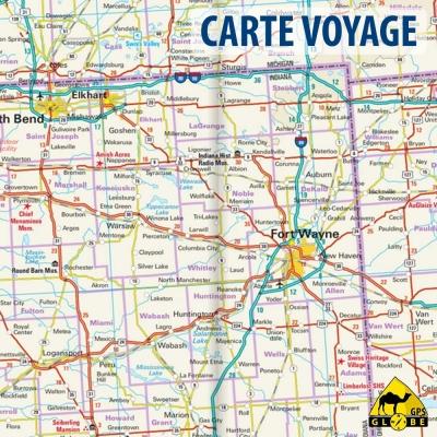 Etats-Unis (Midwest) - Carte voyage - 1 : 600 000