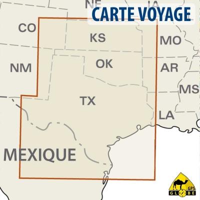 Etats-Unis (Sud) - Carte voyage - 1 : 1 250 000