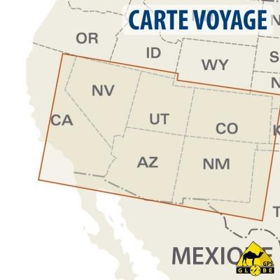 Etats-Unis (Sud Est) - Carte voyage - 1 : 1 250 000