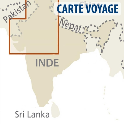 Inde (Nord Ouest) - Carte voyage - 1 : 1 300 000