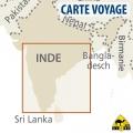 Inde (Sud) - Carte touristique - 1 : 1 300 000