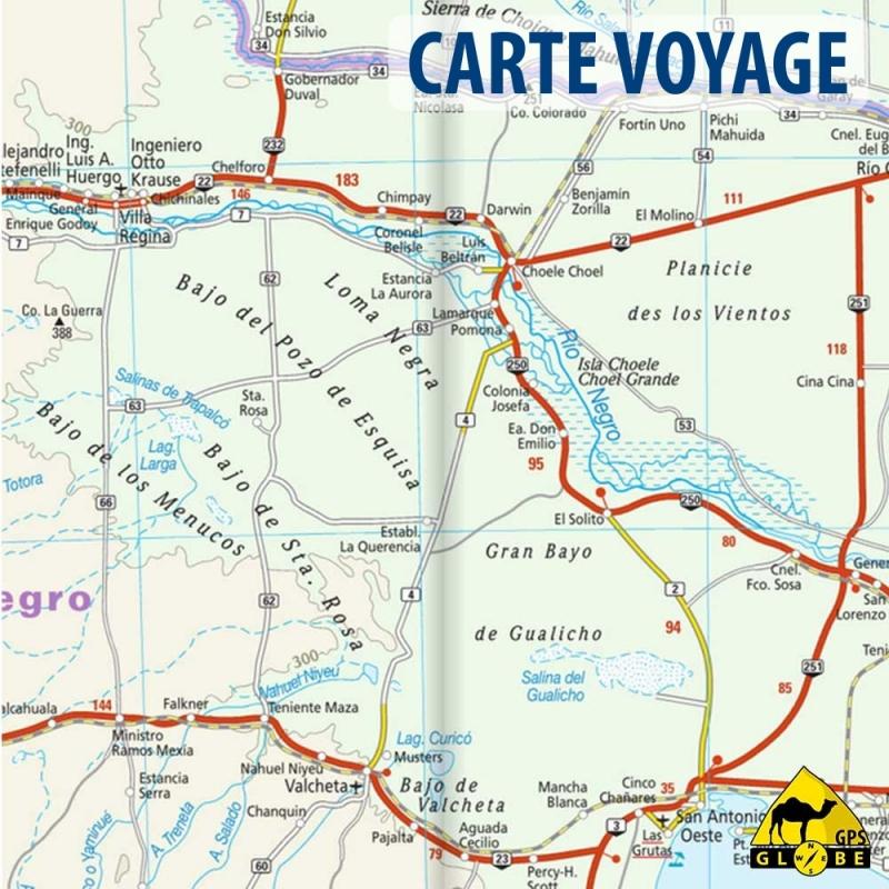 Gps globe carte touristique de l 39 argentine au 1 2 000 000 for Carte touristique