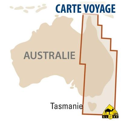 Australie (EST) - Carte voyage - 1 : 1 800 000