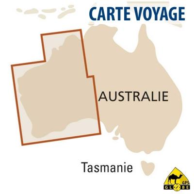 Australie (Ouest) - Carte voyage - 1 : 1 800 000