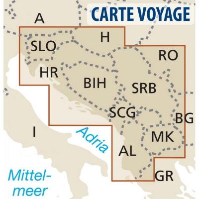 Balkans - Carte voyage - 1 : 725 000