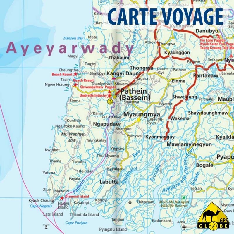 Assez GPS Globe - Carte touristique de la Birmanie au 1 : 1 500 000 WQ97